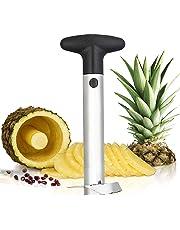 Silver Stainless Steel Pineapple Corer Peeler Stem Remover Blades for Diced Fruit Rings All in One Pineapple Tool Peeler Slicer (1 Pack)