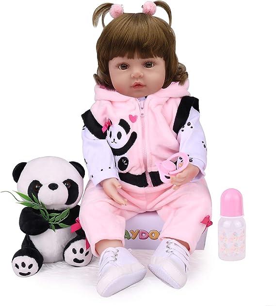 Kaydora Lifelike Reborn Toddler Girl Doll, 18