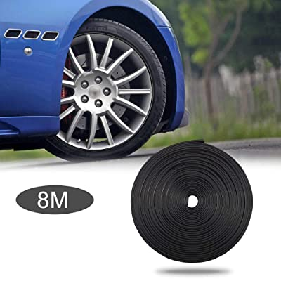 TOMALL 8M Car Wheel Hub Decorative Protection Ring Tire Stick