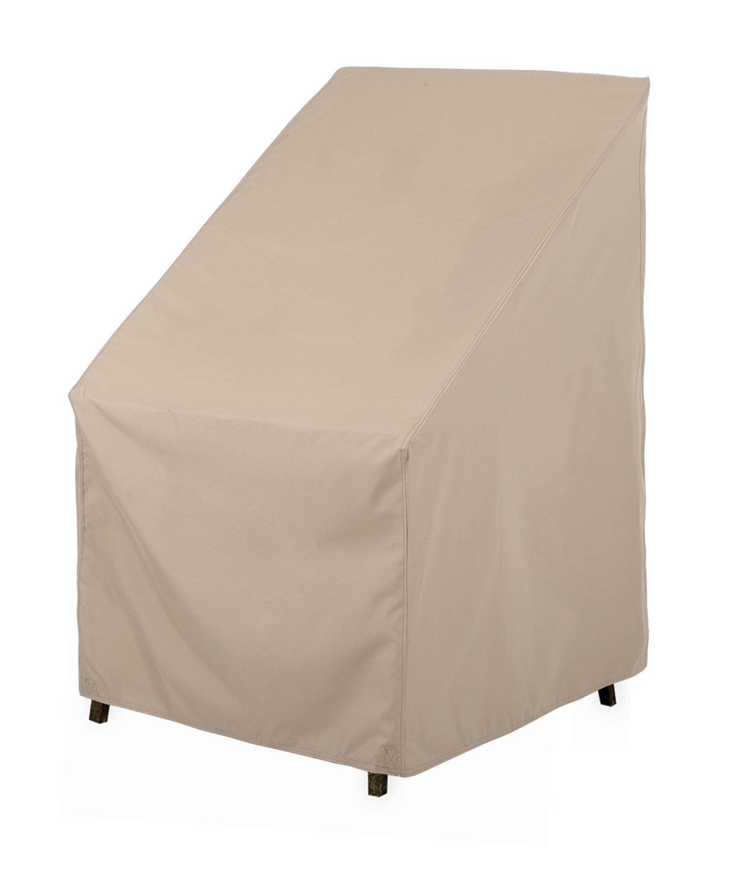 SunPatio Outdoor High Back Chair Cover, Lightweight, Water Resistant, Eco-Friendly, Helpful Air Vent, All Weather Protection, Beige, 27'' L x 30'' W x 42'' H by SunPatio