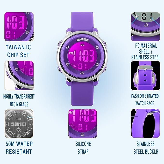 Amazon.com: my-watch las niñas Digital Watch Sport ...