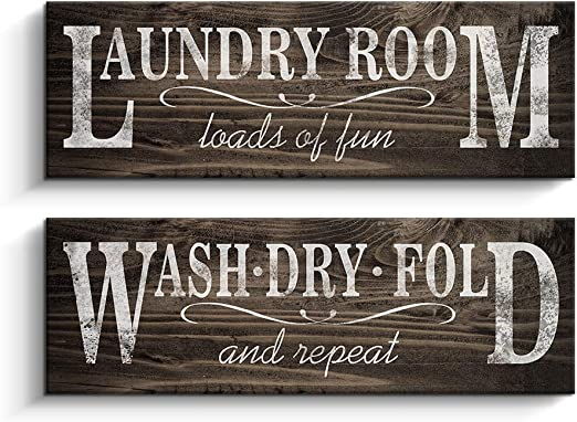 Amazon Com Bathroom Rules Sign Vintage Canvas Prints Bath Signs Wall Art Decor Rustic Laundry Room Decor For Bathroom Apartment 6 X 17 Laundry Room Posters Prints