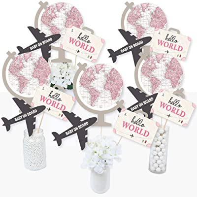 Precious Cargo - Pink - Girl Baby Shower Centerpiece Sticks - Table Toppers - Set of 15: Toys & Games