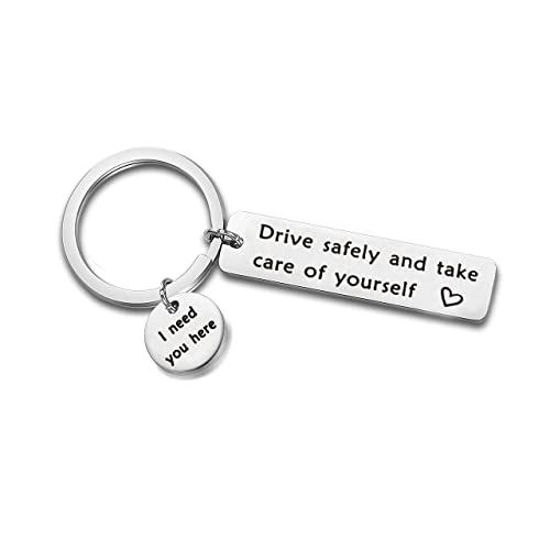 AKTAP Drive Safe Keychain Drive Safely and Take Care of Yourself New Driver  Gift for Her Husband Dad Gift Boyfriend Keychain