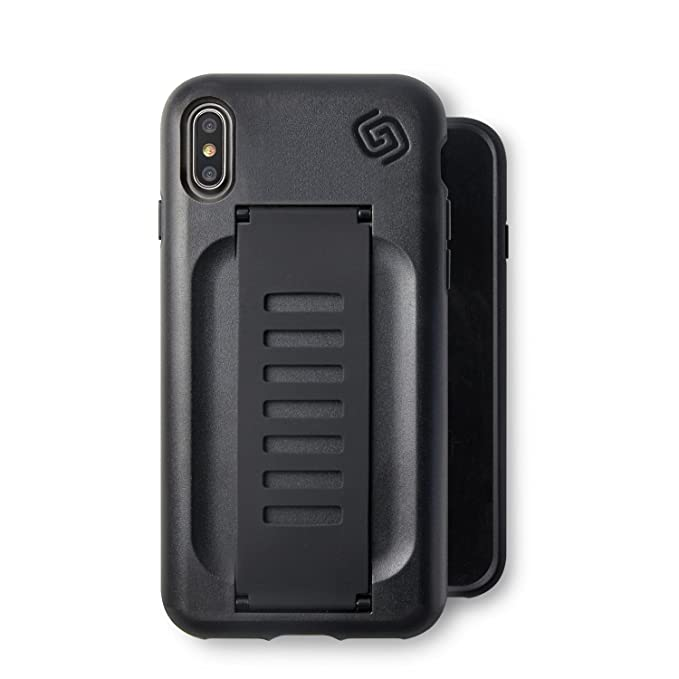 huge discount 7f3a4 15682 Compatible with Apple iPhone X Charcoal Black Phone Case Grip2ü GettaGrip  [Boost] Enhanced Protection Grip CASE [Charcoal] Slim Protection Cover with  ...