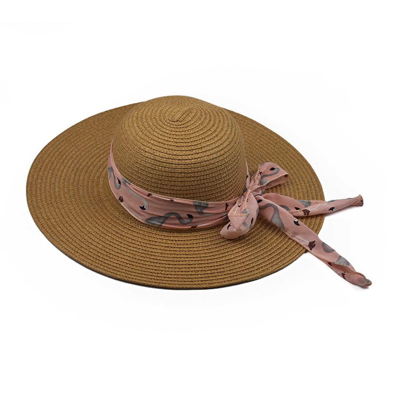New Summer Female Sun Hat Bow Ribbon Panama Beach Hats for Women Chapeu Feminino Sombrero Floppy Straw Hat