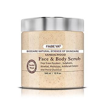 Sandalwood Face And Body Scrub fabeya Biocare Natural tRSNEAuR