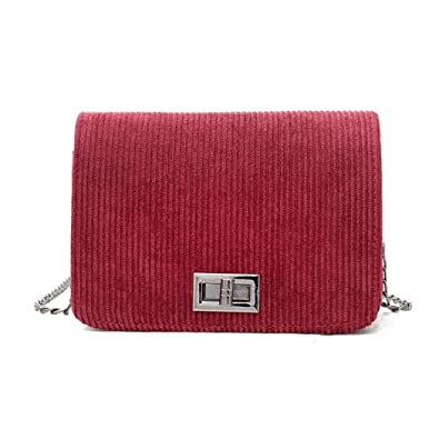 ce302f49bbd5 OHQ Sac à BandoulièRe En Laine La Mode Pour Femme Vert Rose Noir Rouge  FéMinine Pas Cher De Marque Cuir Guess Langer Hasp Main éPaule B A Femmes  ...