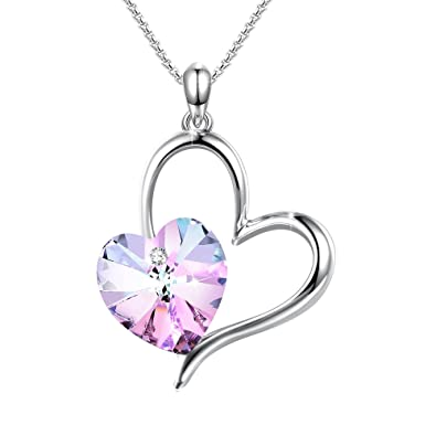 "7688c96ce Angelady"" Love Guardian Heart Pendant Necklaces for Women Crystals  from Swarovski, Birthday Gifts for"