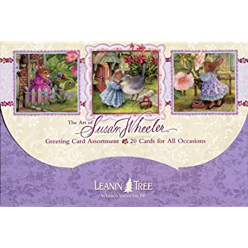 Amazon thoughts felines leanin tree greeting card 1 x the art of susan wheeler cute greeted card assortment by leanin tree 20 cards with full color interiors m4hsunfo