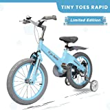 R for Rabbit Rapid Cycle for Kids - Smart Plug and Play Kids Bicycle -16 inch for 4 Years to 7 Years Baby (Ice Blue)