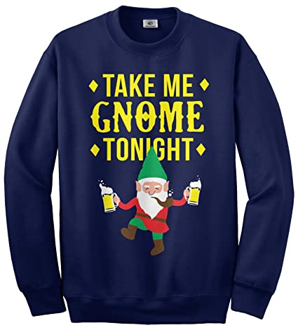 Amazoncom Threadrock Take Me Gnome Tonight Unisex Sweatshirt Clothing
