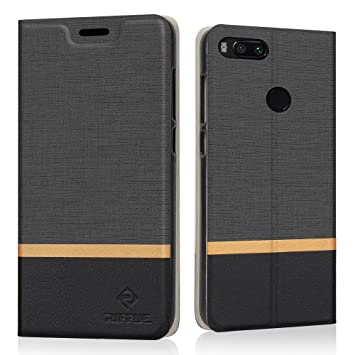 RIFFUE Xiaomi Mi 5X Case, Xiaomi Mi A1 Case, Premium Slim Thin PU Leather Flip Case Protective Foldable Stand Feature Cover with Retro Denim Pattern ...