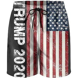 d526a5dc5f HSJOTT Donald Trump American Flag Casual Men's Swim Trunk Beach Shorts. 2.8  out of 5 stars 13. $22.99 - $45.00 · ZQ-SOUTH ZrGo Men's 2020 Thin Blue  Line ...