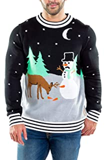 Amazoncom Tipsy Elves Ugly Christmas Sweater Yellow Snow Sweater