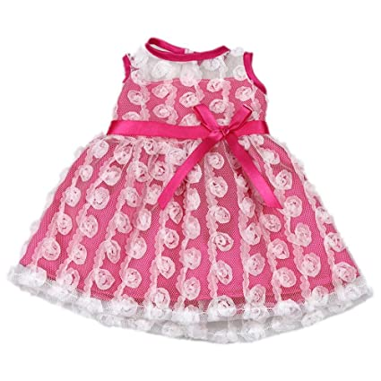 Amazon Com Aoful Bitty Baby Doll Clothes Dress Pink Pretty Summer