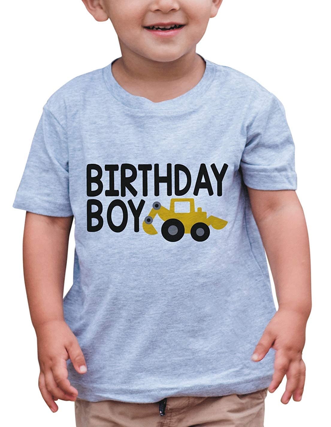 7 ate 9 Apparel Boys Birthday Boy Construction T-Shirt
