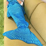 Kpblis Warm and Soft Mermaid Tail Blanket 7 diffenrent Colors Mermaid Blanket for Kids and Adult