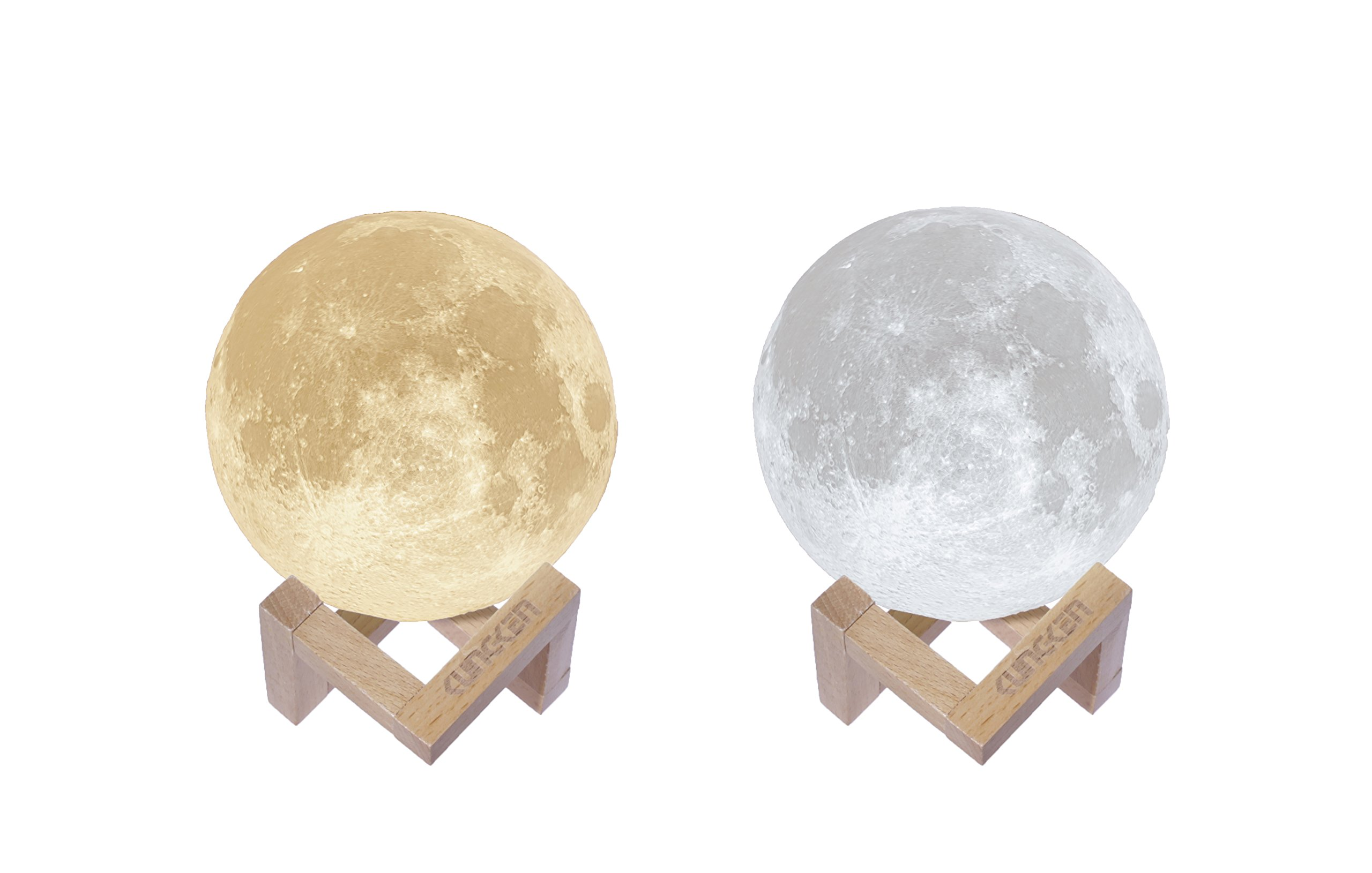 Amazon.com: KUNGKEN Rechargeable 3D Printing Moon Lamp Touch Switch ...