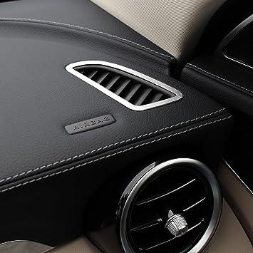 2pcs aleación de salpicadero aire acondicionado Vent Outlet cubierta Trim coche accesorios: Amazon.es: Coche y moto