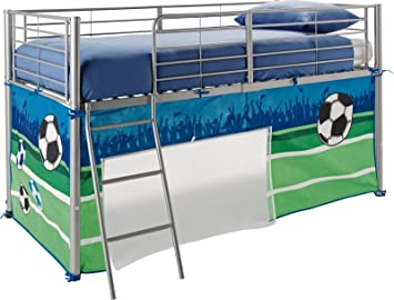 Boys Football Tent for Mid Sleeper Bed Bedroom Green Blue Kids Storage Toy Games Boys Mid  sc 1 st  Amazon UK & Boys Football Tent for Mid Sleeper Bed Bedroom Green Blue Kids ...