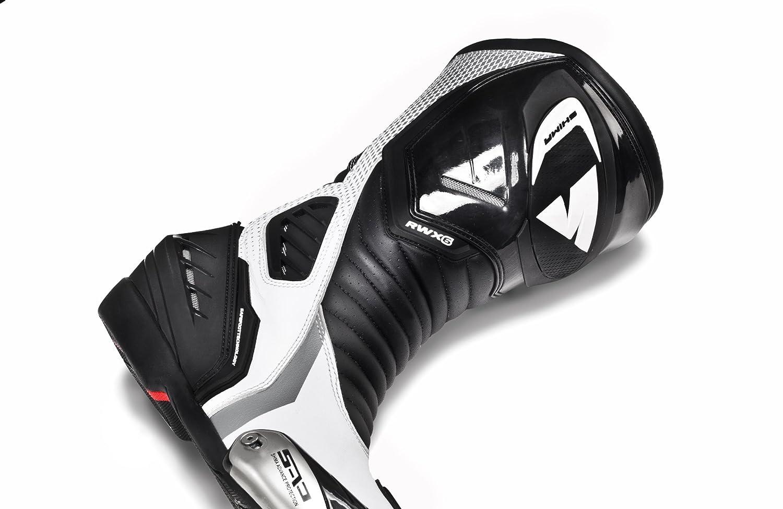 estiro Vintage Deportivas y para Verano Botas de Moto para Mujer RWX-6 de Shima de Cuero