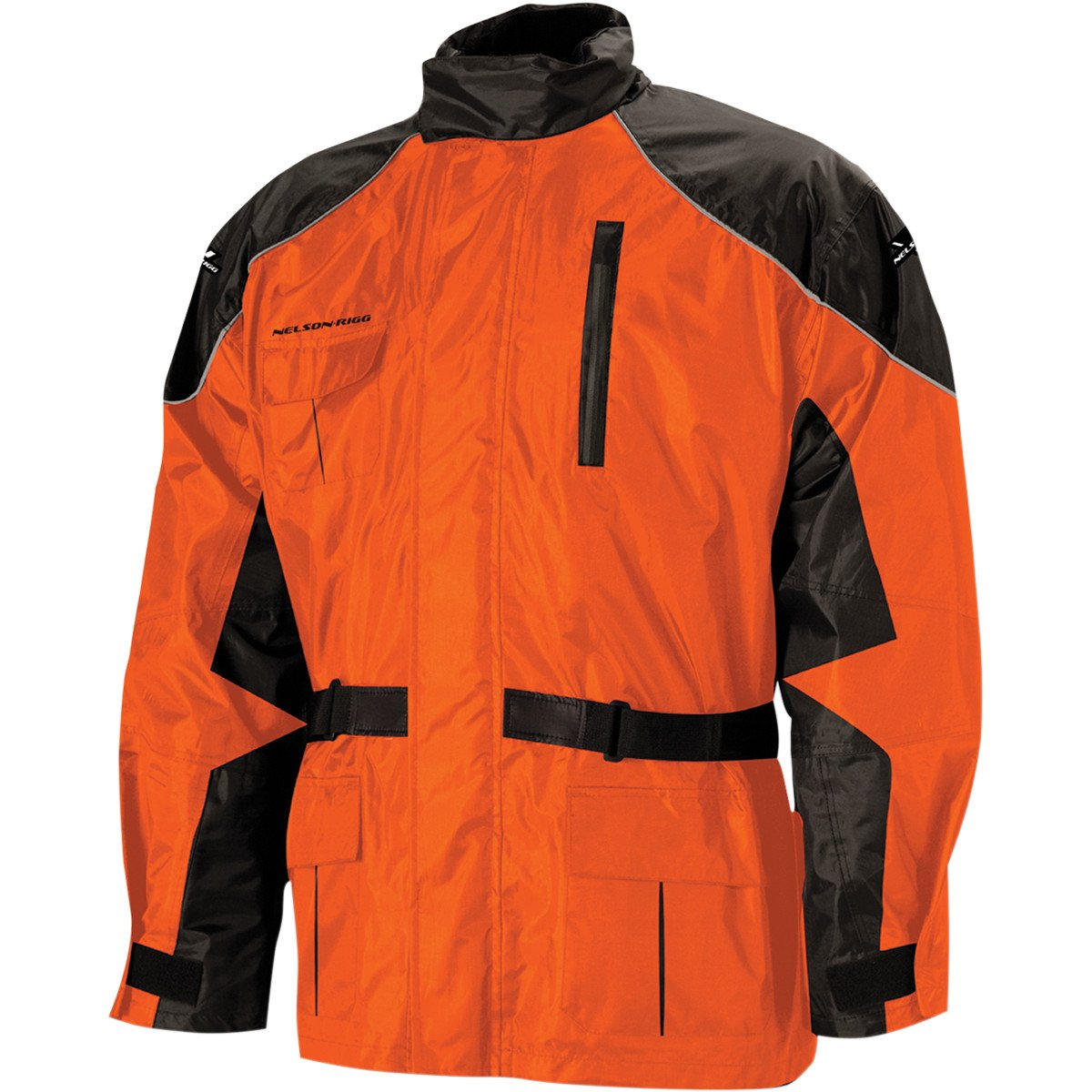 Nelson-Rigg AS-3000 Aston 2-Piece Rain Suit (Black/Orange, X-Large) 409-075 by Nelson-Rigg