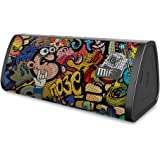 Bluetooth Speakers, MIFA A10 Portable Speaker True Wireless Stereo for Party, 16 Hours Playtime, 10W Loud Sound Rich Bass, IP45 Waterproof, Built-in Mic for Handsfree Call, TF Card Slot, Graffiti