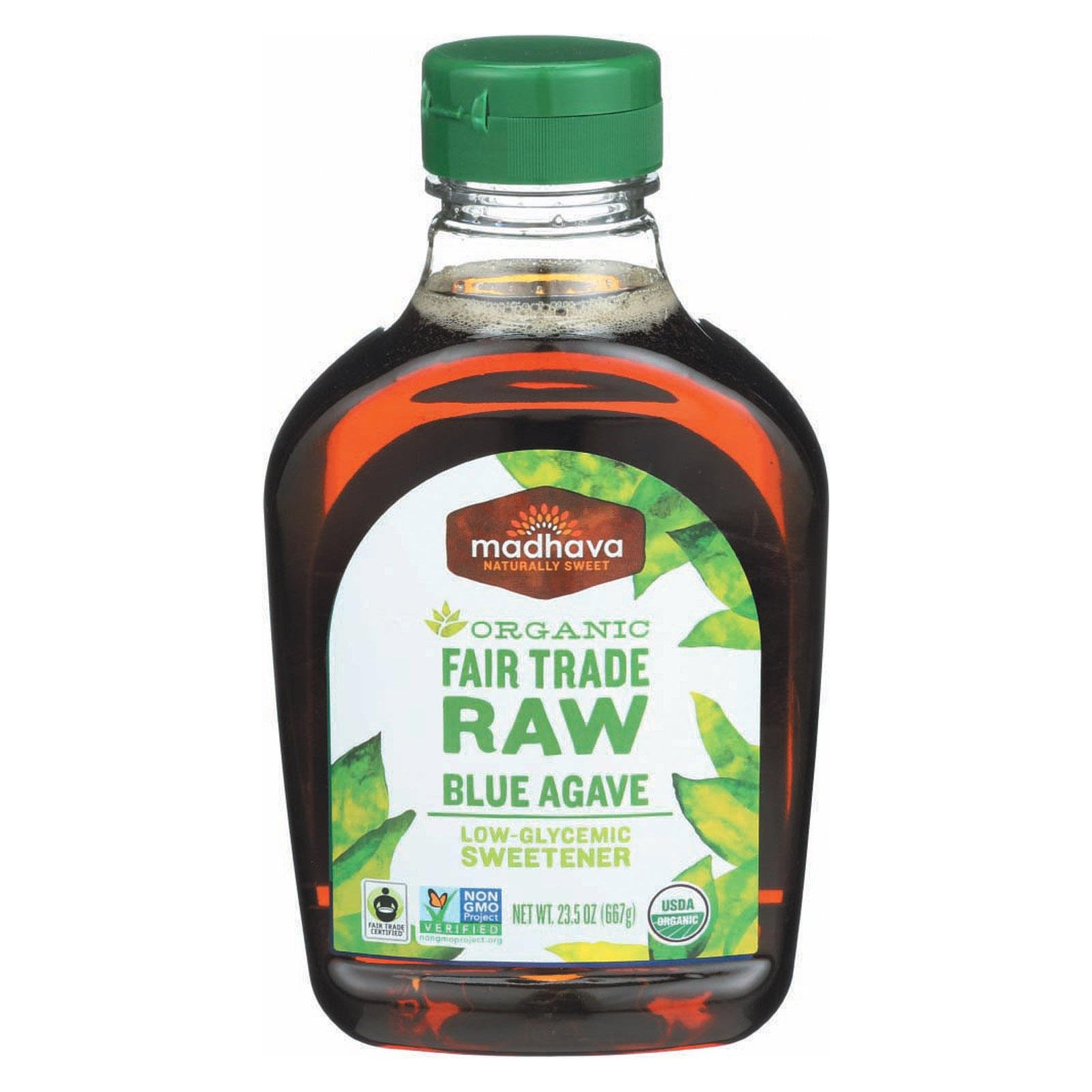 Madhava Pure Agave Nectar Raw 23.5 Oz -Pack of 6