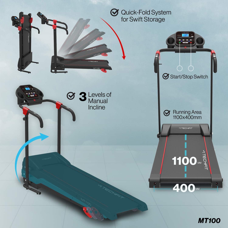 TechFit MT100 Cinta de Correr Motorizada Eléctrica Plegable, 2.5 ...