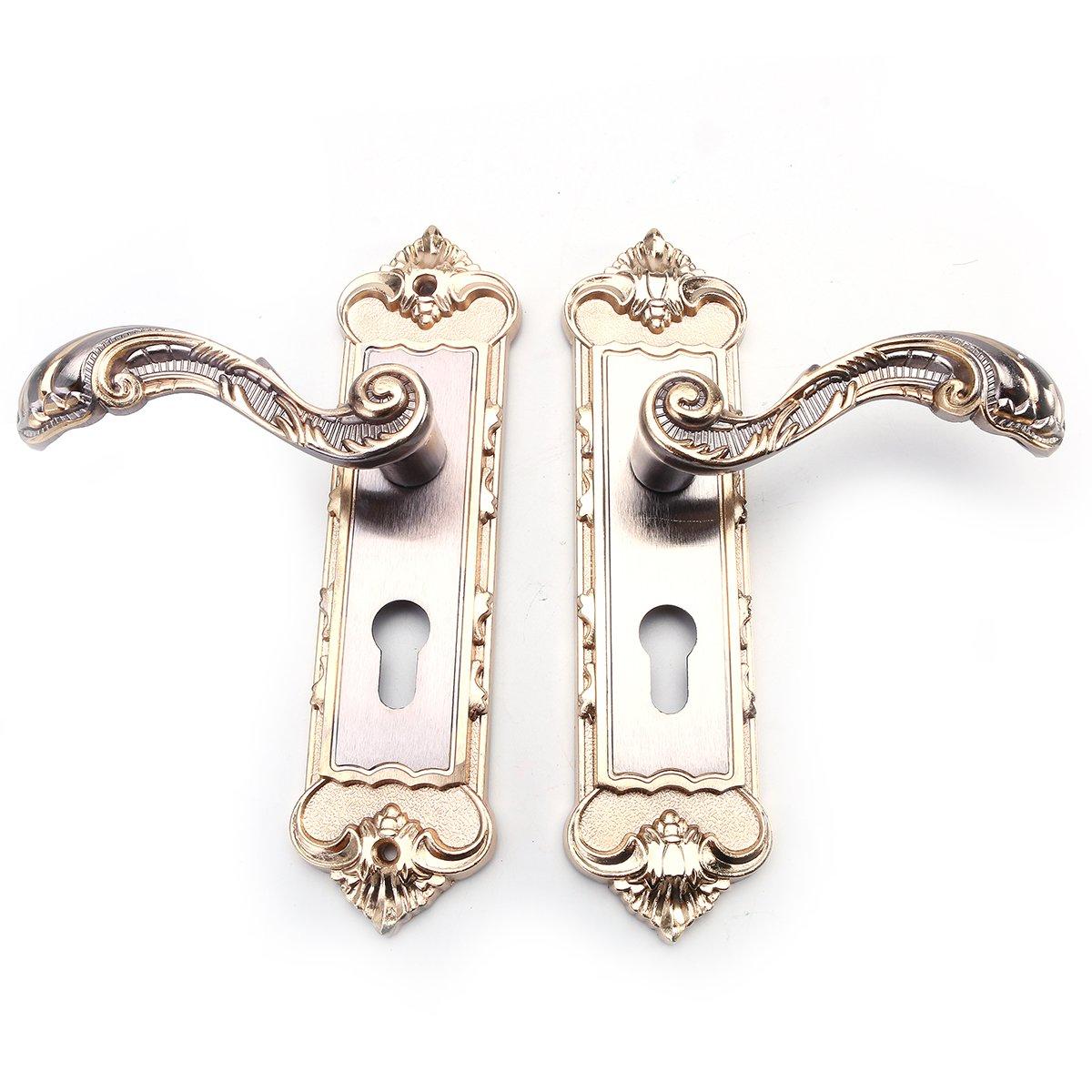 ddanke Gold-/Tür-Griff-Verschluss-Set mit 3Schlüsseln