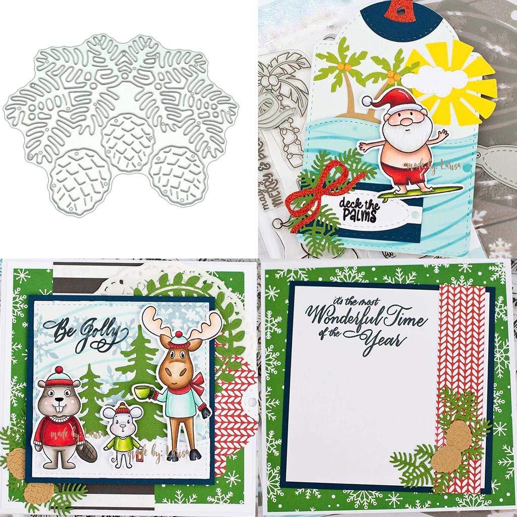 Papier Karten WuLi77 Leaf Hintergrund Metall Stanzschablone Die Stanzen Zum Basteln Von Karten Kunst DIY Album Dekoration Pr/ägeschablone F/ür Scrapbooking