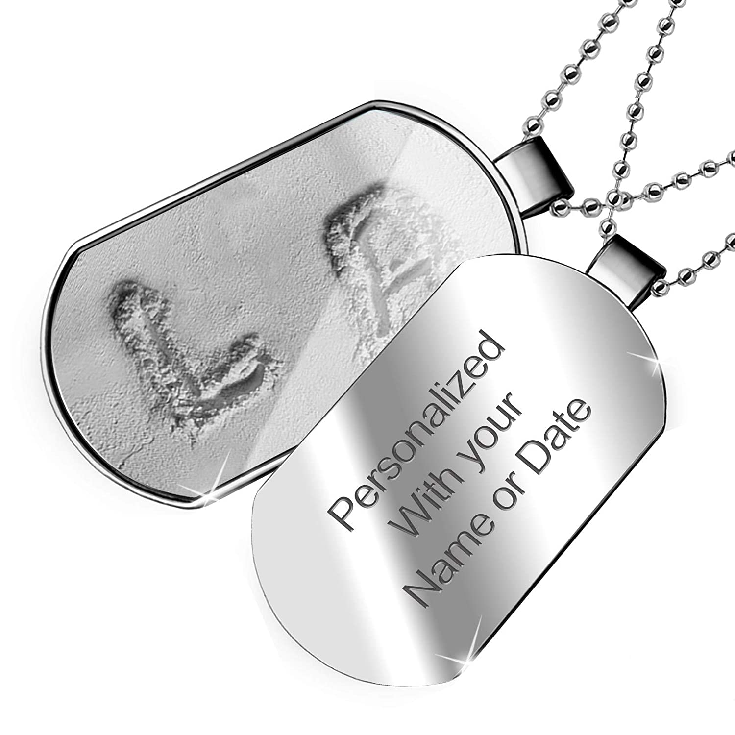 NEONBLOND Personalized Name Engraved LA Flour Dogtag Necklace