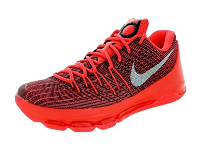 90bfe7615355 Nike Men s KD 8 Bright Crimson White Black Basketball Shoe 8 Men US