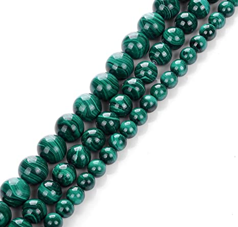 Malachite Round Beads 6mm Green 8 Pcs Gemstones DIY Jewellery Making Crafts