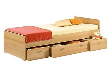 Stella Trading Boro Bett 90 X 200 Cm Buche Amazon De Kuche Haushalt
