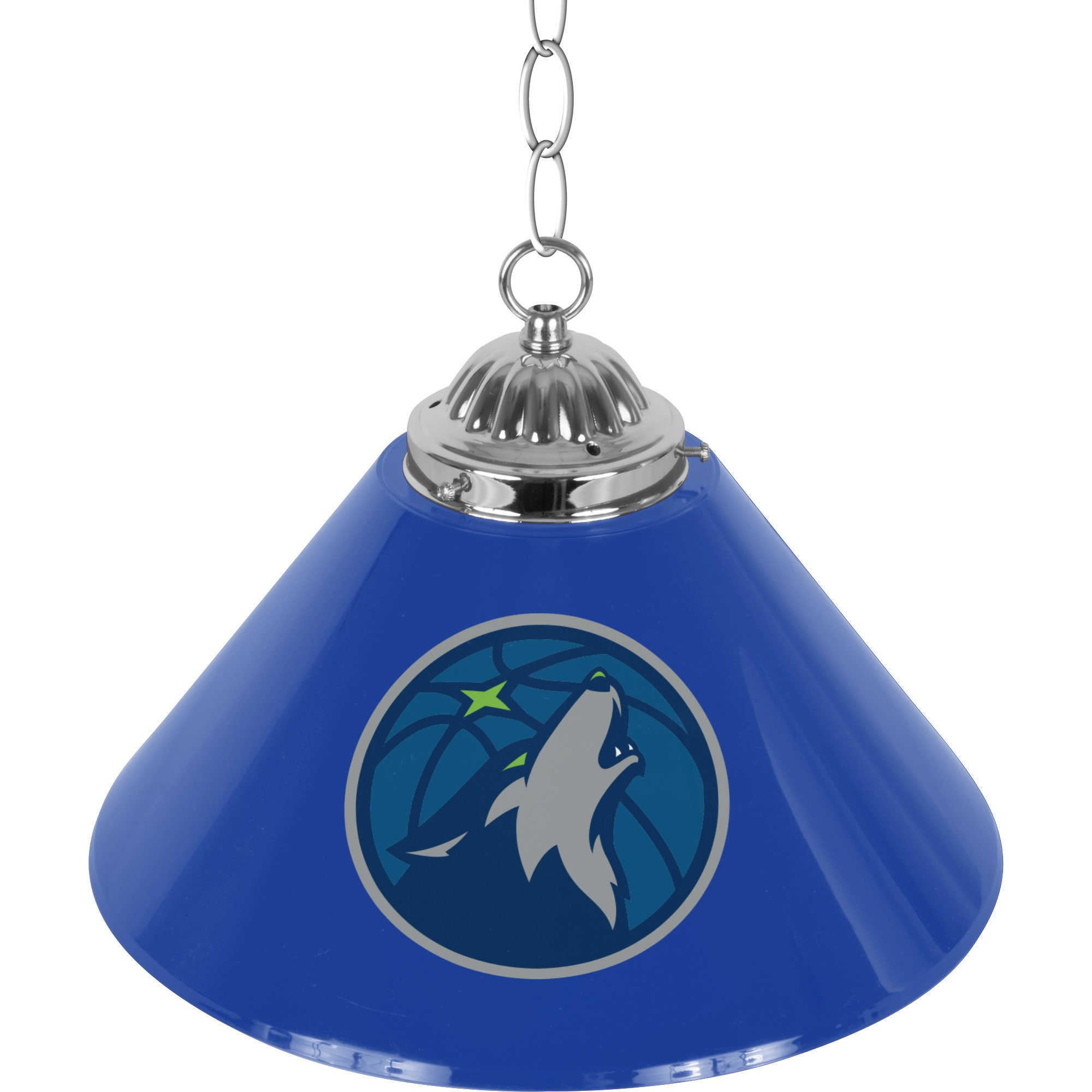 NBA Minnesota Timberwolves Single Shade Gameroom Lamp, 14''