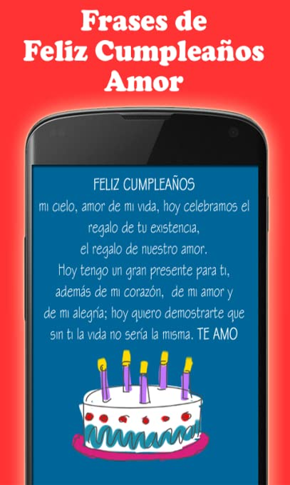 Amazon Com Frases De Feliz Cumpleanos Amor Appstore For Android