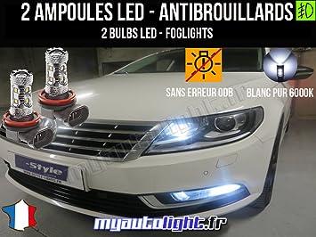 Bombillas LEDs antibrouillards para Volkswagen Passat B7: Amazon.es: Coche y moto