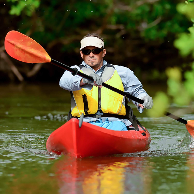 Hiking Driving Rowing for Men Women Kayaking FitsT4 Fingerless Fishing Gloves UPF50+ Sun Gloves UV Protection Gloves for Outdoor Paddling