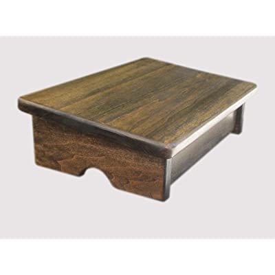 "KR Ideas Comfort Foot Stool, 4"" Tall (Made in The USA) (Walnut): Kitchen & Dining [5Bkhe2002358]"