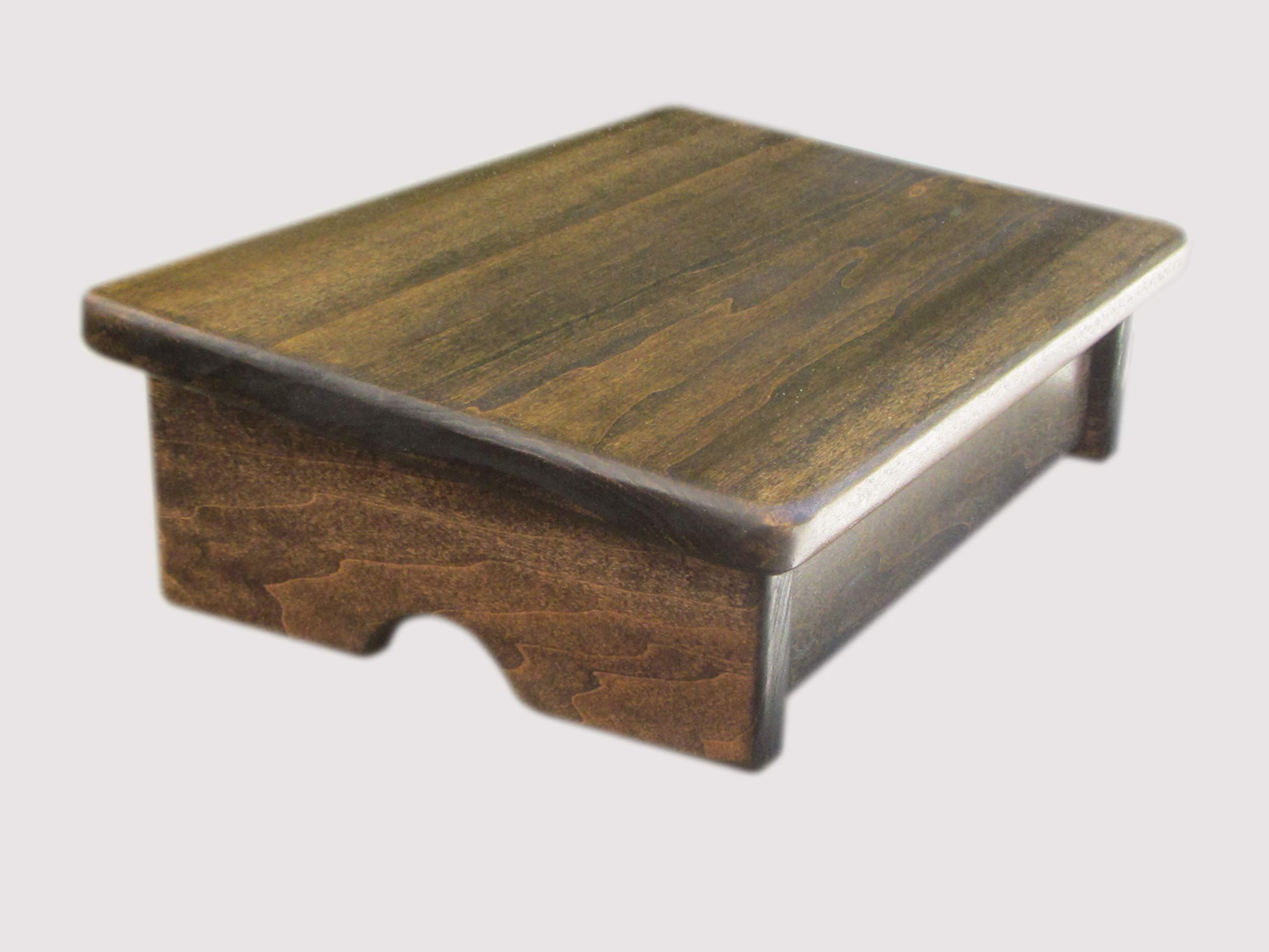 Comfort Foot Stool, 4'' Tall (Made in the USA) (Walnut) by KR Ideas