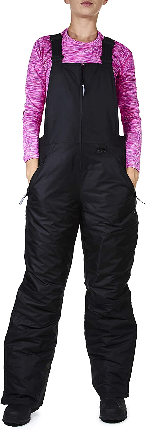 Arctic Quest Womens Insulated Water Resistant Ski Snow Bib Pants