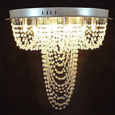Chende Flush Mount Swirl Design Crystal Ceiling Light Fixture