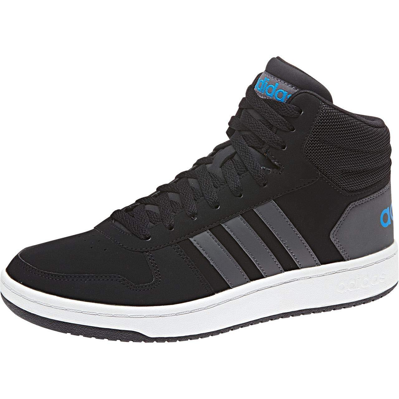 Adidas Hoops 2.0 Homme Mid, Chaussures de Basketball Homme 2.0 38 2/3 EU|Noir (Cblack/Grefiv/Brblue Cblack/Grefiv/Brblue) a6d93b