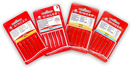 Singer Kit de 4 Paquetes de 5 Agujas para Coser Universales ...