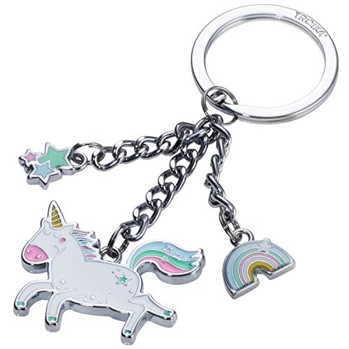 Amazon.com: TROIKA HAPPY HOPSY – KR17-34/CH – Keyring with 3 ...