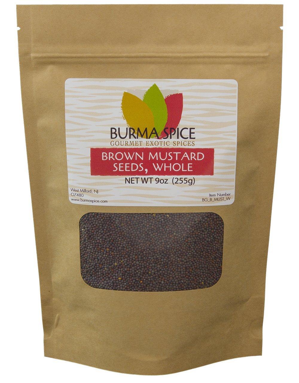 Brown Mustard Seed, Whole : Indian Mustard Kosher (9oz.)