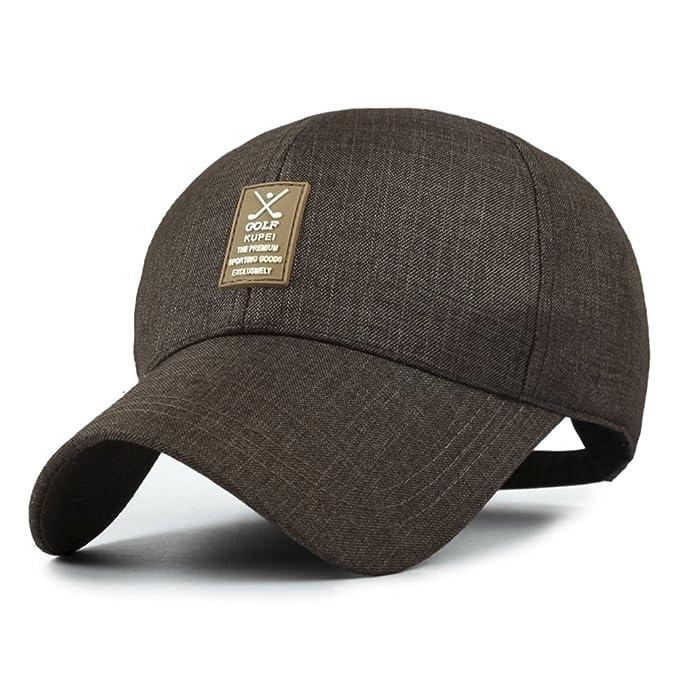 Sombrero De los hombres casuales gorras CAP en los ancianos Gorro de Papá   al aire libre sombra sombrero para el sol-A ajustable  Amazon.es  Ropa y ... 2918dd893ad