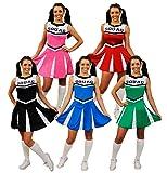 Cheerleader Fancy Dress Costume Womens High School